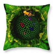 Bee Flower Throw Pillow