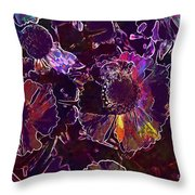 Bee Flower Yellow Nature Insect  Throw Pillow
