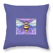 Bee For A Little Bee Throw Pillow