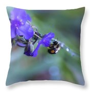 Bee Harmony Throw Pillow by Mary Lou Chmura