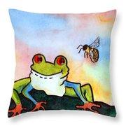 Bee Hoppy Throw Pillow