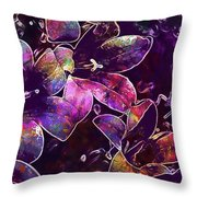 Bee Insect Close Macro Flower  Throw Pillow