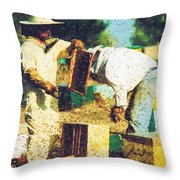 Bee Keepers Throw Pillow