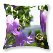 Bee-line 5 Throw Pillow