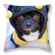 Chihuahua Says Bee Mine Throw Pillow