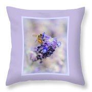 Bee On Sage Throw Pillow