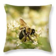 Bee On Top Of Things Throw Pillow