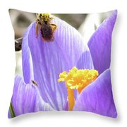 Bee Pollen Throw Pillow