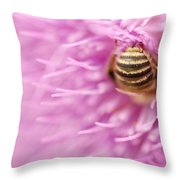 Bee The Moon Throw Pillow