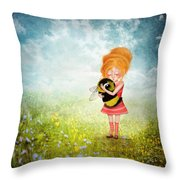 Bee Whisperer Throw Pillow