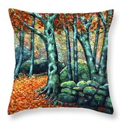 Beech Woods Throw Pillow