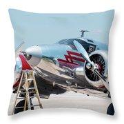 Beechcraft C-45h Throw Pillow