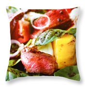 Beef And Onions Throw Pillow