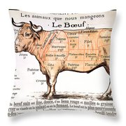 Beef Throw Pillow by French School