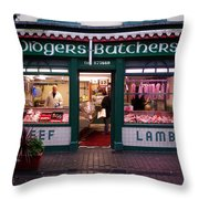 Beef Lamb Throw Pillow