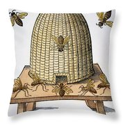 Beehive, 1658 Throw Pillow