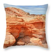 Beehives Above Wash 3 In Valley Of Fire Throw Pillow