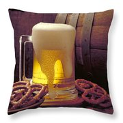 Beer And Pretzels Throw Pillow