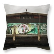 Beer Barge - Iquitos, Peru Throw Pillow