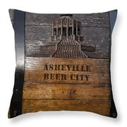 Beer Barrel City Throw Pillow
