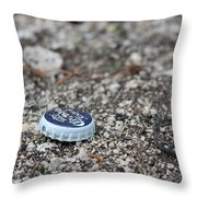 Beer Cap Throw Pillow