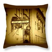 Beer Cellar In Salzburg Throw Pillow