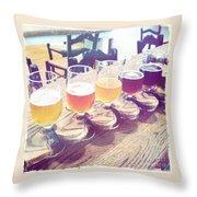 Beer Flight Throw Pillow