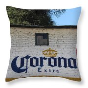 Beer In Mexico Throw Pillow