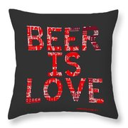 Beer Is Love Throw Pillow