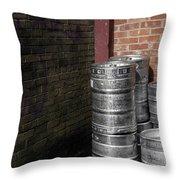 Beer Keggs And Graffiti Throw Pillow