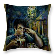 Beer Of Prague Throw Pillow