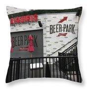 Beer Park Throw Pillow