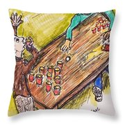 Beer Pong Madness Throw Pillow