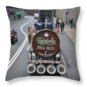 Beer Wagon Throw Pillow