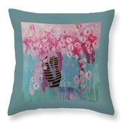 Bees In Pink Throw Pillow