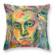 Beethoven Energy  Throw Pillow