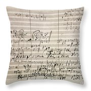 Beethoven Manuscript Throw Pillow