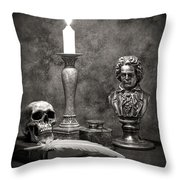 Beethoven Still Life Throw Pillow