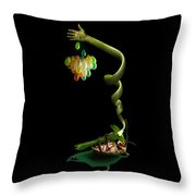 Beetle On His Back Throw Pillow