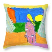 Before A Window Throw Pillow