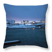 Before Dawn Reine Lofoten Throw Pillow