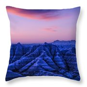 Before Sunrise, Badlands National Park Throw Pillow