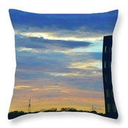 Before Sunset Color  Throw Pillow