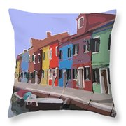 Before The Crowds Arrive Throw Pillow