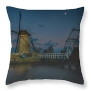 Before The Dawn, Kinderdijk Throw Pillow