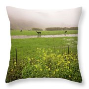 Before The Flood Throw Pillow