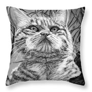 Before The Jump Black And White Throw Pillow