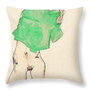 Before The Mirror Throw Pillow