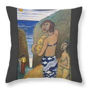 Before The Sea Throw Pillow
