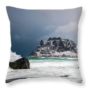 The Coming Of The Storm Throw Pillow